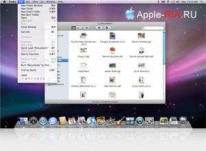 Рабочий стол операционной системы Mac OS X Leopard
