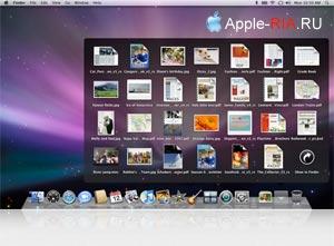 Меню Mac OS X Leopard